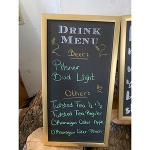 Drink menu boards
